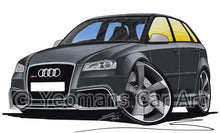 Load image into Gallery viewer, Audi RS3 - Caricature Car Art Print
