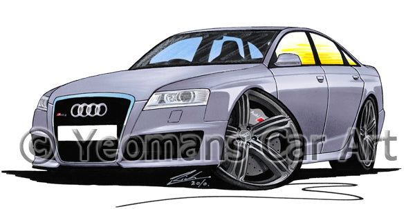 Audi RS6 (C6) - Caricature Car Art Print