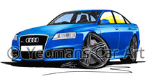 Load image into Gallery viewer, Audi RS6 (C6) - Caricature Car Art Print