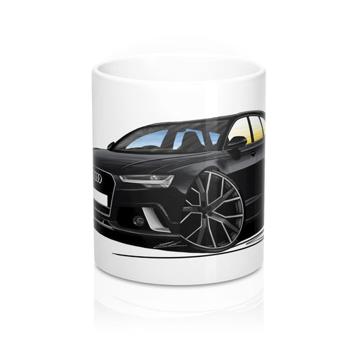 Audi RS6 (C7) Avant - Caricature Car Art Coffee Mug