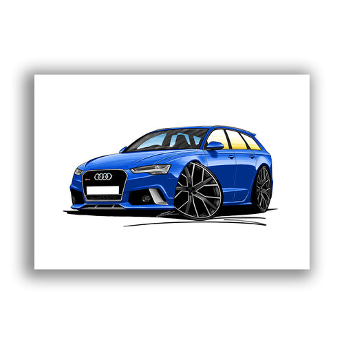 Audi RS6 (C7) Avant - Caricature Car Art Print
