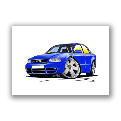 Audi S4 (B5) - Caricature Car Art Print