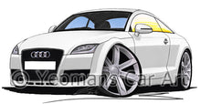 Load image into Gallery viewer, Audi TT (Mk2) - Caricature Car Art Print