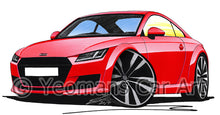 Load image into Gallery viewer, Audi TT (Mk3) - Caricature Car Art Print
