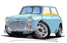 Load image into Gallery viewer, Austin Mini (Mk1) Cooper S - Caricature Car Art Print