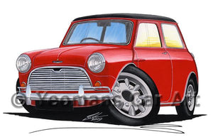 Austin Mini (Mk1) Cooper S - Caricature Car Art Coffee Mug