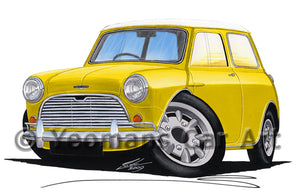 Austin Mini (Mk1) Cooper S - Caricature Car Art Print