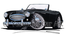 Load image into Gallery viewer, Austin-Healey 3000 - Caricature Car Art Print