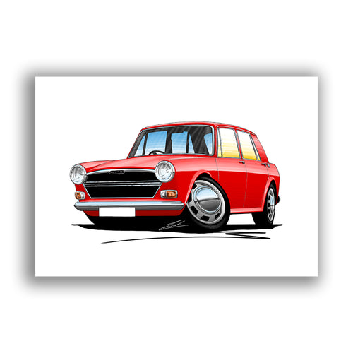 Austin 1300 - Caricature Car Art Print