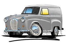 Load image into Gallery viewer, Austin A35 Van - Caricature Car Art Print