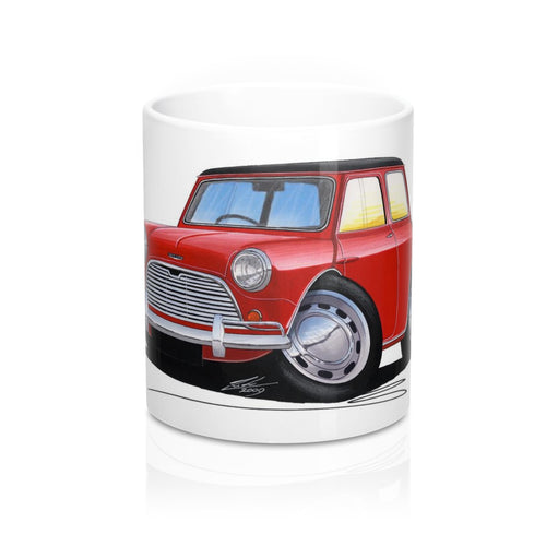 Austin Mini (Mk1) Cooper - Caricature Car Art Coffee Mug