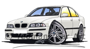 BMW M5 (E39) - Caricature Car Art Print