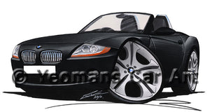 BMW Z4 (E85) - Caricature Car Art Print