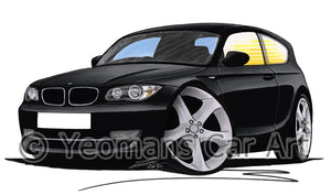 BMW 1-Series (E81) - Caricature Car Art Print