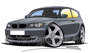 BMW 1-Series (E81) - Caricature Car Art Coffee Mug