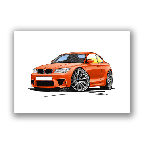 BMW 1M Coupe - Caricature Car Art Print