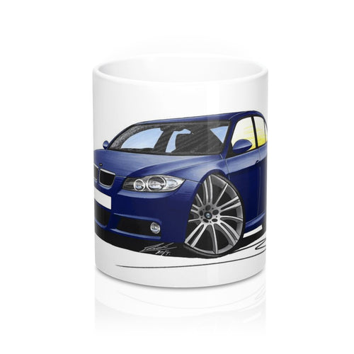 BMW 3-Series (E90) - Caricature Car Art Coffee Mug