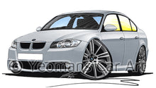 Load image into Gallery viewer, BMW 3-Series (E90) - Caricature Car Art Print