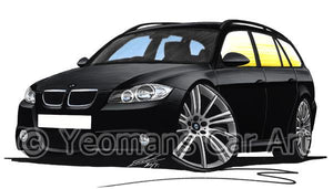 BMW 3-Series (E91) Touring - Caricature Car Art Coffee Mug
