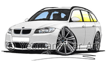 Load image into Gallery viewer, BMW 3-Series (E91) Touring - Caricature Car Art Print