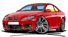 Load image into Gallery viewer, BMW 3-Series (E92) Coupe - Caricature Car Art Print