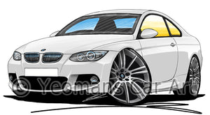 BMW 3-Series (E92) Coupe - Caricature Car Art Print