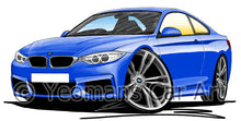 Load image into Gallery viewer, BMW 4-Series (F32) Coupe - Caricature Car Art Print