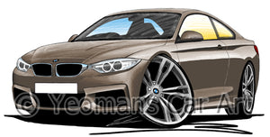 BMW 4-Series (F32) Coupe - Caricature Car Art Print