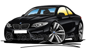 BMW M2 (F87) - Caricature Car Art Print