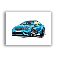 Load image into Gallery viewer, BMW M2 (F87) - Caricature Car Art Print