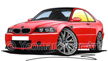 Load image into Gallery viewer, BMW M3 (E46) CSL - Caricature Car Art Print
