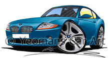 Load image into Gallery viewer, BMW Z4 (E85) Coupe - Caricature Car Art Print