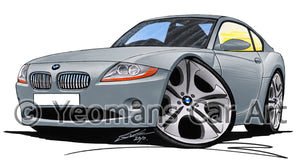 BMW Z4 (E85) Coupe - Caricature Car Art Print