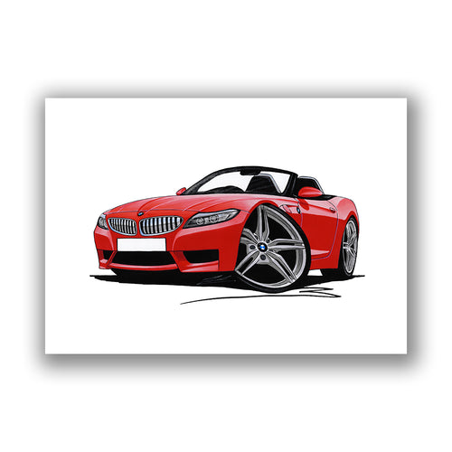 BMW Z4 (E89) - Caricature Car Art Print
