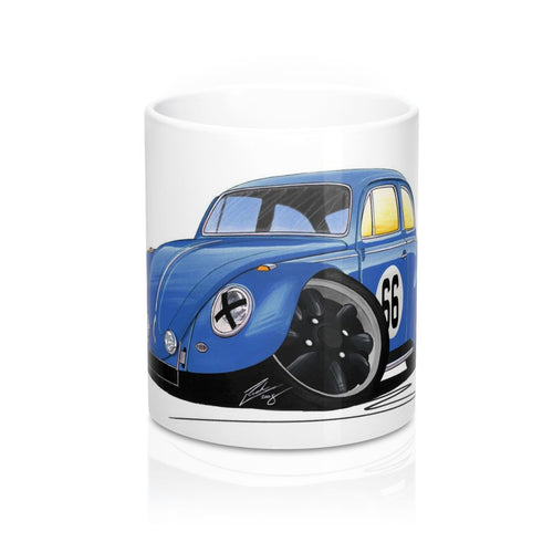 VW Beetle (Racer #66) - Caricature Car Art Coffee Mug