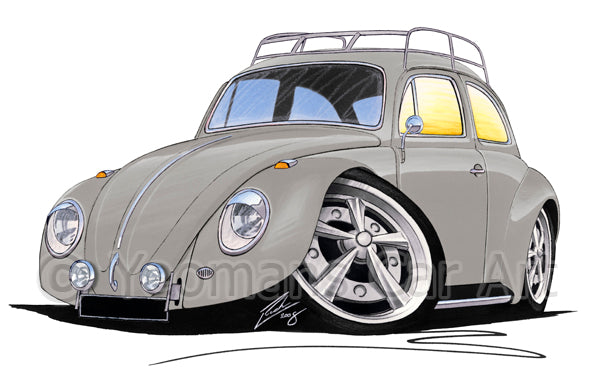 VW Beetle (Yeo-D) - Caricature Car Art Print