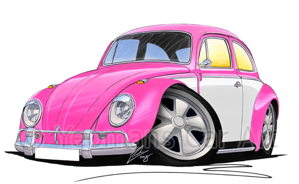 VW Beetle (Yeo-F) - Caricature Car Art Print