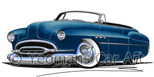 Buick Super Riviera (1952) Convertible - Caricature Car Art Print