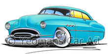 Load image into Gallery viewer, Buick Super Riviera (1952) - Caricature Car Art Print