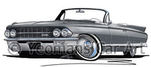 Load image into Gallery viewer, Cadillac Eldorado Biarritz (1962) - Caricature Car Art Print