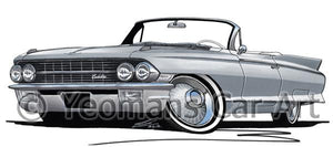 Cadillac Eldorado Biarritz (1962) - Caricature Car Art Coffee Mug
