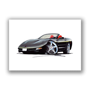 Chevrolet Corvette C5 Convertible - Caricature Car Art Print