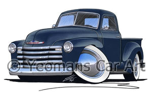 Chevrolet 3100 Pick-Up - Caricature Car Art Coffee Mug