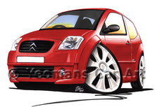 Load image into Gallery viewer, Citroen C2 VTS - Caricature Car Art Print