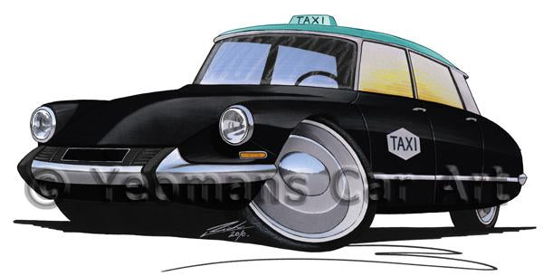 Citroen DS Taxi - Caricature Car Art Coffee Mug