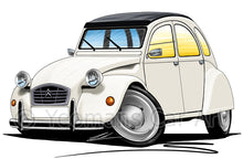 Load image into Gallery viewer, Citroen 2CV - Caricature Car Art Print