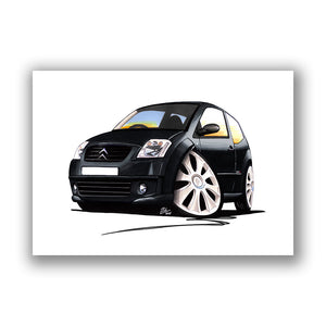 Citroen C2 VTS - Caricature Car Art Print