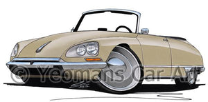Citroen DS21 Cabriolet - Caricature Car Art Coffee Mug