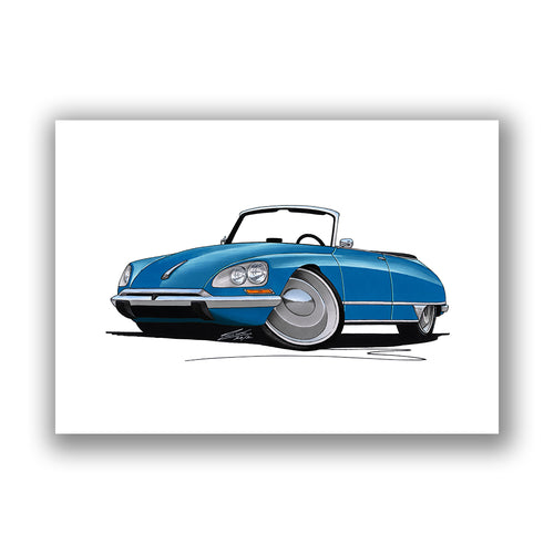 Citroen DS21 Cabriolet - Caricature Car Art Print