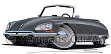 Load image into Gallery viewer, Citroen DS21 Cabriolet - Caricature Car Art Print